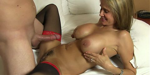 Naughty COUGAR banged by her young lover