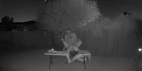 Me and Wife in the Backyard at 4a.m.