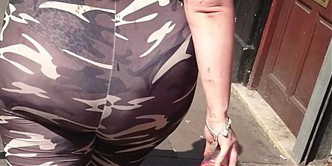 BBW Huge Fat Jiggly Wobbly Ass - See Through Thong
